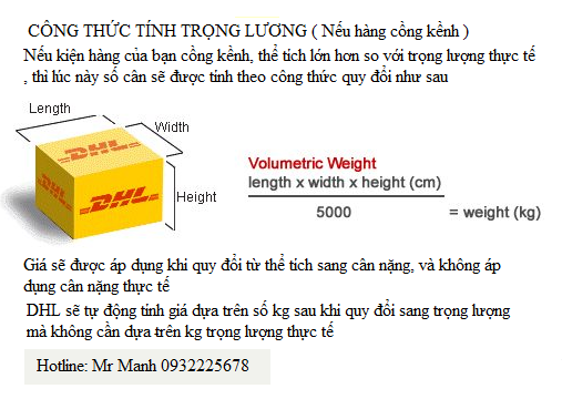 cach tinh trong luong theo the tich