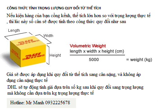 cach tinh trong luong the tich chuyen phat nhanh dhl
